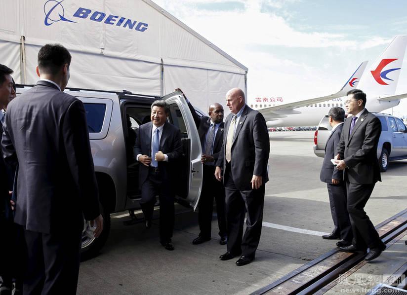 米国のシアトルを訪問中の習近平主席は9月23日、航空機大手のボーイング... 習近平主席、ボーイ