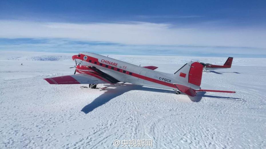 中国初の極地用固定翼機、南極の...