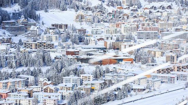 ダボスの雪景色