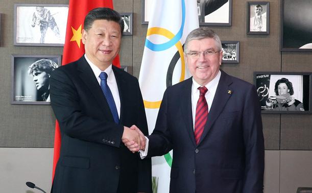 習近平會見國際奧委會主席巴赫