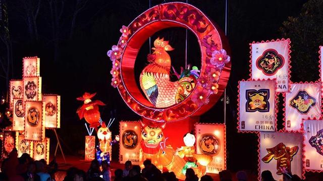 飾り灯籠、元宵節を迎える