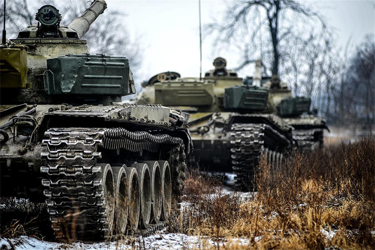 ハンガリー陸軍の訓練、砲身がす...