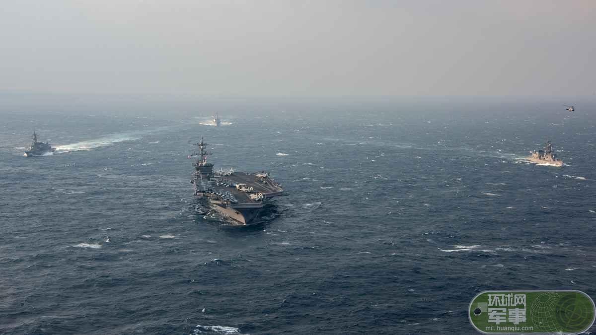 米空母打撃群、日本と東中国海で武力誇示_中国網_日本語