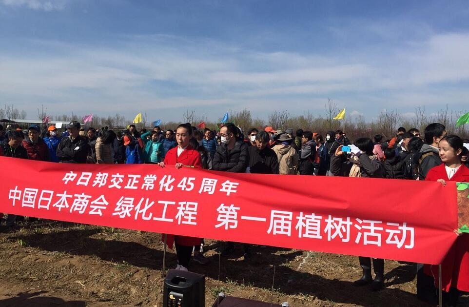 日本企業、河北省タク州に桜を植...