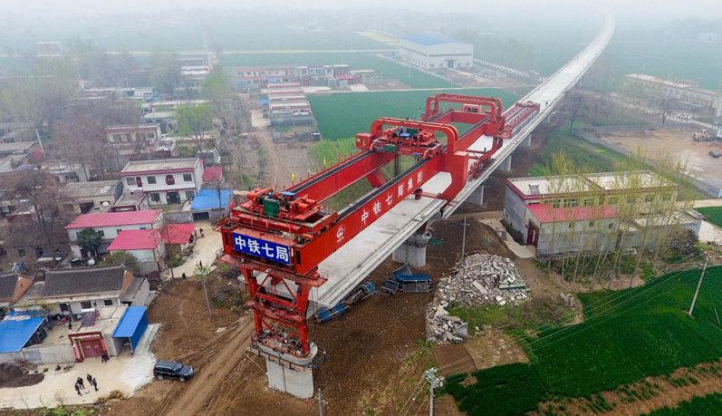 鄭万高速鉄道、河南区間の工事が順調に進むコメント
