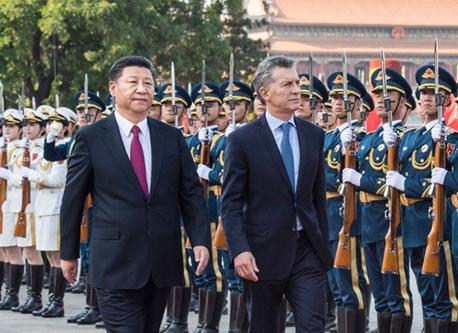 習近平主席とアルゼンチン大統領が会談