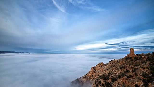 低速度撮影、仙境のような雲海