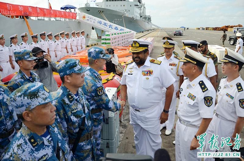 海軍遠洋航行訪問艦隊、スリランカを訪問 災害救助を積極的に支援