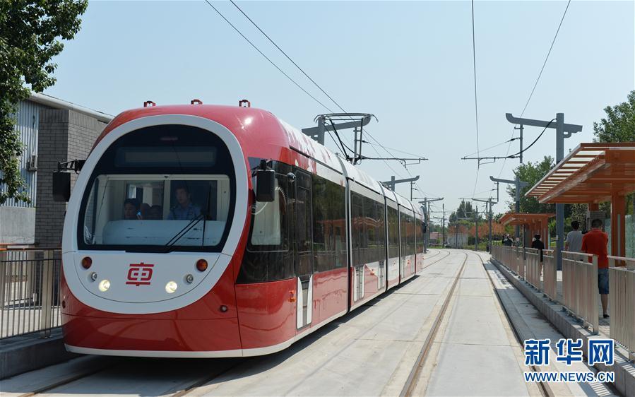 北京初の現代路面電車線路、年内...