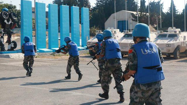 中国レバノン平和維持部隊、テロ対策訓練を実施