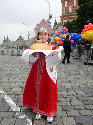 В России встречают гостей хлебом-солью