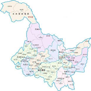 Карта пров. Хэйлунцзян