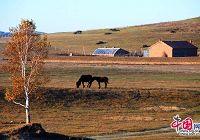 Красивая природа степи Уланьмутун в автономном районе КНР Внутренняя Монголия