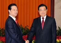 Председатель КНР Ху Цзиньтао встретился с премьер-министром Вьетнама