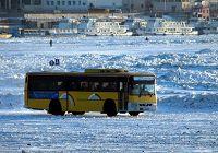 По льду реки Хэйлунцзян открыто пассажирское и грузовое автотранспортное сообщение