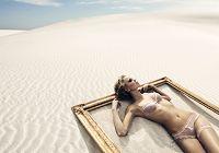 Оригинальные фотографии на тему моды, снятые в пустыне