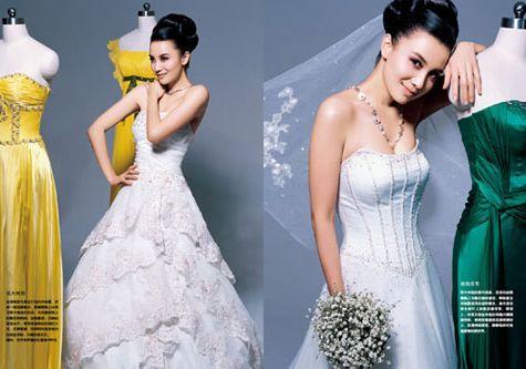 Актриса Сун Цзя демонстрирует свадебные платья 2