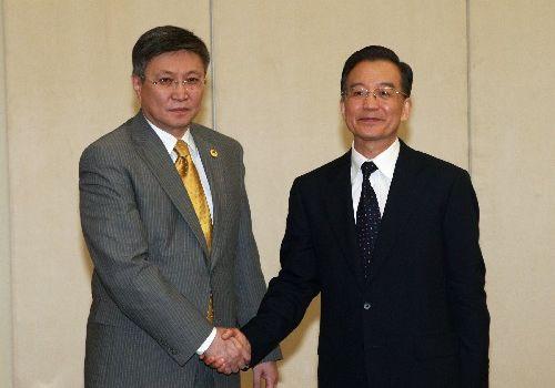 Встреча Вэнь Цзябао с премьер-министром Монголии
