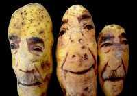 Оригинальные картофельные портреты