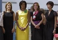 Первые леди на саммите «Большой восьмерки»