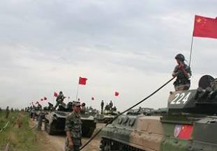Мобильная заправочная станция на китайско-российских совместных военных учениях «Мирная миссия-2009»