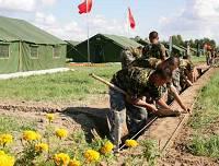 Военный лагерь после шторма