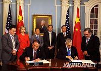 Китай и США парафировали меморандум о взаимопонимании об укреплении сотрудничества в области энергетики и охраны окружающей среды, а также в борьбе с изменениями климата