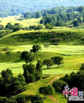 Красивая степь Уланьбутун