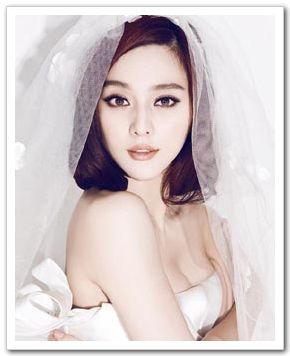 Красавица Фань Бинбин в свадебных снимках