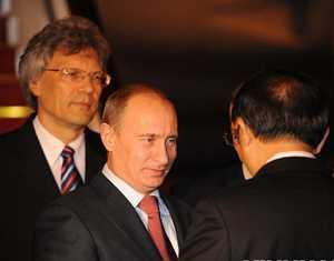 Премьер-министр РФ В. Путин прибыл в Пекин с визитом
