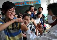 В разных местах Китая стартовала вакцинация от вируса гриппа H1N1