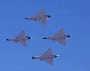 Прошло предварительное парашютное выступление в честь 60-летия ВВС НОАК