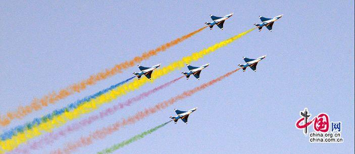Прекрасные выступления на авиашоу в честь 60-летия образования ВВС НОАК 0