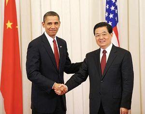 Переговоры Ху Цзиньтао с президентом США Б. Обамой