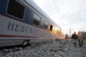 В результате крушения 'Невского экспресса' 25 человека погибли, 63 - ранены