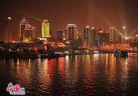 Красочные ночные виды города Чунцин