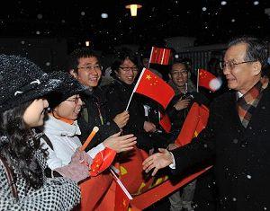 Премьер Госсовета КНР Вэнь Цзябао прибыл в Копенгаген для участия в Конференции ООН по изменению климата