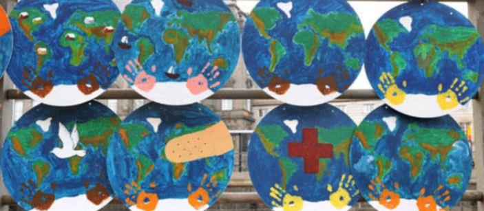 Детские рисунки призывают людей к защите окружающей среды