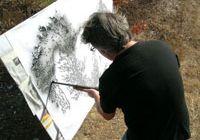 Американский художник Уолт Крил рисует картины ружьем