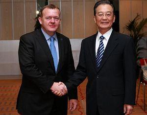 Премьер Госсовета КНР Вэнь Цзябао встретился с премьером Дании