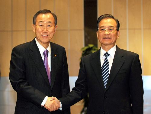 Премьер Госсовета КНР Вэнь Цзябао встретился с Пан Ги Муном