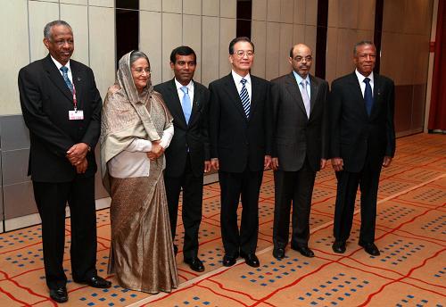 Встреча Вэнь Цзябао с руководителями Мальдив, Эфиопии, Бангладеш, Гренады и Судана