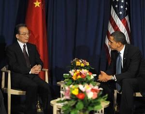 Премьер Госсовета КНР Вэнь Цзябао встретился с президентом США Б. Обамой