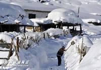 Кэкэтохай СУАР – второй полюс холода Китая густо покрыт снегом