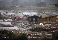 Цунами на юге Чили, вызванные толчками после землетрясения