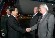 Председатель КНР Ху Цзиньтао прибыл в столицу Бразилии для участия во встрече лидеров стран 'БРИК'