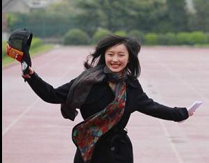 Изящная победительница конкурса девушек для обслуживания ЭКСПО-2010 в Шанхае