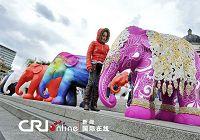 Демонстрация 260 «слонов» в Лондоне