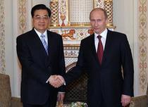 Встреча председателя КНР Ху Цзиньтао и премьер-министра РФ В. Путина
