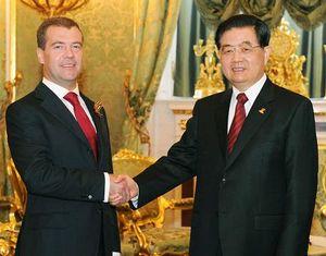 Ху Цзиньтао встретился с Дмитрием Медведевым